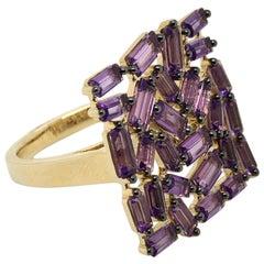 Le Vian 2.875 Carat Amethyst Yellow Gold Ring