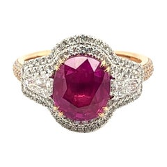 Le Vian 3 Carat Ruby Two-Tone Gold Ring