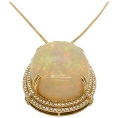 Le Vian 36 Carat Opal Yellow Gold Pendant