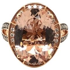 Le Vian 7 Carat Peach Morganite Rose Gold Ring