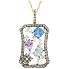 Le Vian Abstract Gemstone and Diamond Necklace