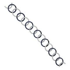 Le Vian Bracelet with Sapphire, Vanilla Diamonds Set in 14 Karat Vanilla Gold