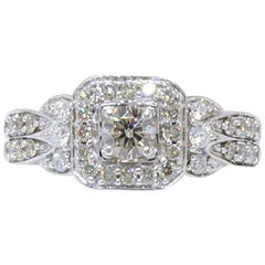 Le Vian Chocolate and Vanilla Diamond 3/4 Carat Engagement Ring 14 Karat Gold