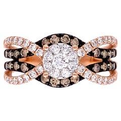 Le Vian Chocolatier Diamond Rose Gold Twist Cocktail Ring