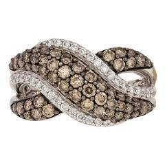 Le Vian Diamond Ring, 14 Karat White Gold Crossover 1.34 Carat