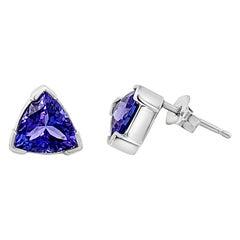 Le Vian Earrings Featuring Blueberry Tanzanite Set in 14 Karat Vanilla Gold