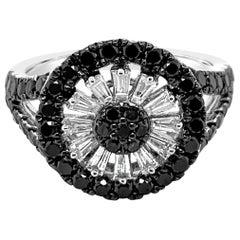 Le Vian Exotics Ring, Black Diamonds, Vanilla Diamonds, 14 Karat Vanilla Gold