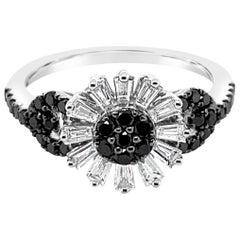Le Vian Exotics Ring, Vanilla Diamonds, Black Diamonds, 14 Karat Vanilla Gold