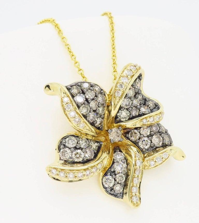 Le Vian Flower Diamond Necklace For Sale 7