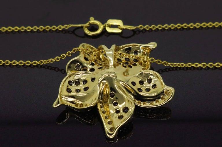 Le Vian Flower Diamond Necklace For Sale 1