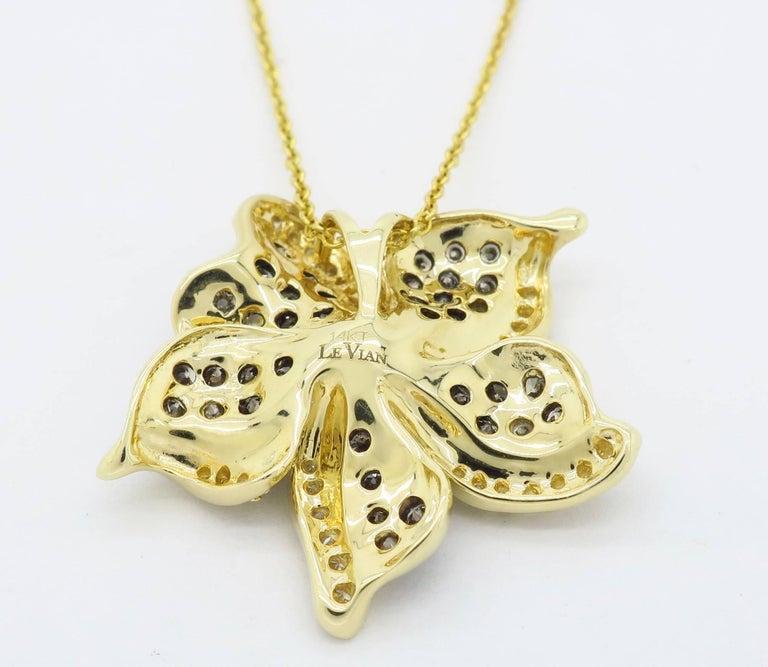 Le Vian Flower Diamond Necklace For Sale 2
