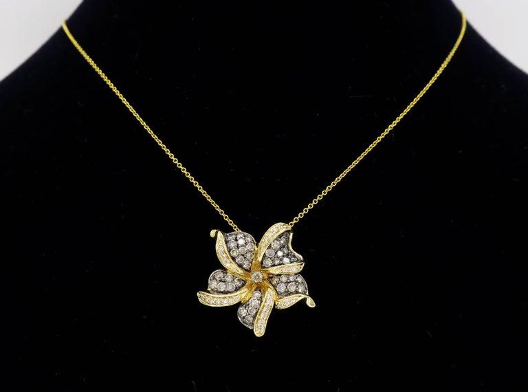 Le Vian Flower Diamond Necklace For Sale 3
