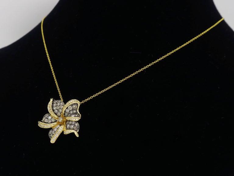 Le Vian Flower Diamond Necklace For Sale 4