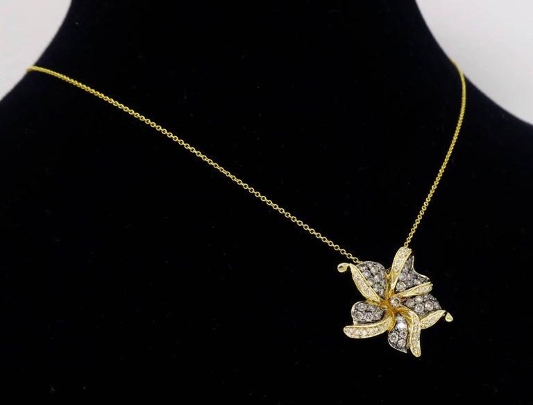 Le Vian Flower Diamond Necklace For Sale 5