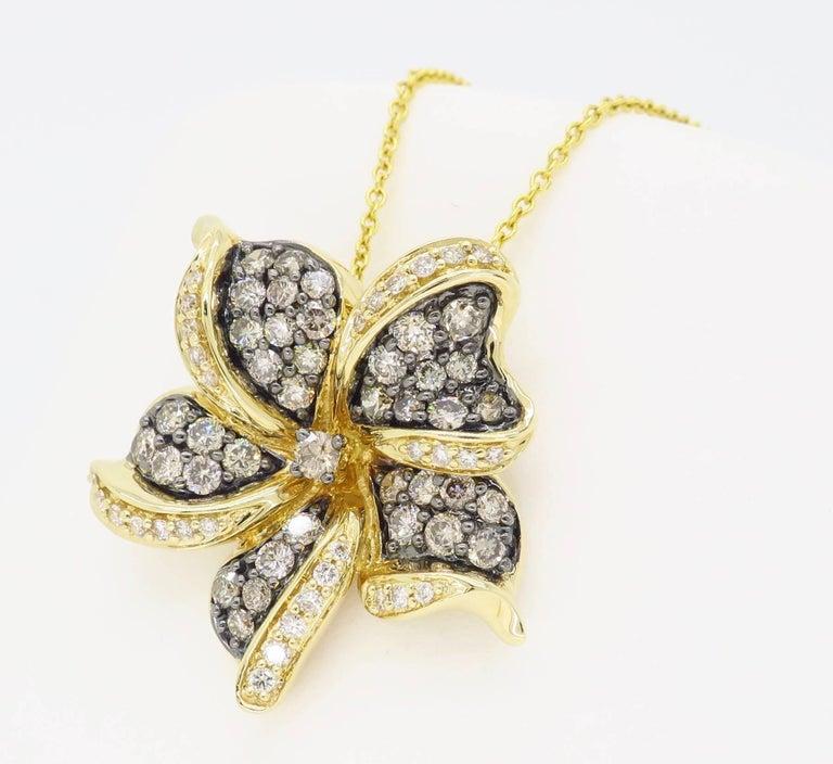 Le Vian Flower Diamond Necklace For Sale 6