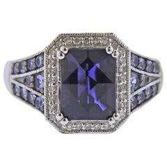 Le Vian LeVian Gold Diamond 4.82 Carat Blue Zircon Topaz Iolite Ring