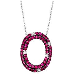 Le Vian Pendant, Passion Ruby Vanilla Diamonds 14 Karat Vanilla Gold