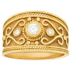 Le Vian Renaissance Revival Diamond Set Gold Ring