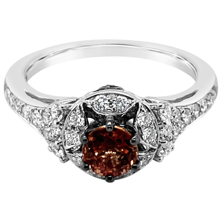 Le Vian Ring Fancy Sapphire Vanilla Diamonds Chocolate Diamonds 14K White Gold