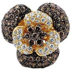 Le Vian Ring Featuring Vanilla Diamonds, Chocolate Diamonds, 14 Karat Honey Gold