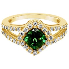 Le Vian Ring, Hunters Green Tourmaline Vanilla Diamonds, 14 Karat Green Gold