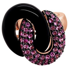 Le Vian Ring Onyx Pink Diamonds 14 Karat Strawberry Gold