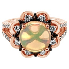 Le Vian Ring Opal Nude Diamonds Chocolate Diamonds 14 Karat Strawberry Gold