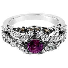 Le Vian Ring Purple Sapphire Chocolate Diamonds White Diamonds 14 Karat Gold
