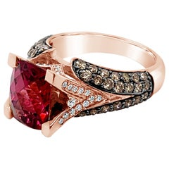 Le Vian Ring Rhodolite Chocolate Diamonds Vanilla Diamond 14 Karat Gold