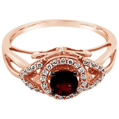 Le Vian Ring Rhodolite Vanilla Diamonds 14 Karat Strawberry Gold