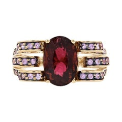 Le Vian Rubellite Tourmaline & Pink Sapphire Ring Yellow Gold, 14k Oval 6.06ctw
