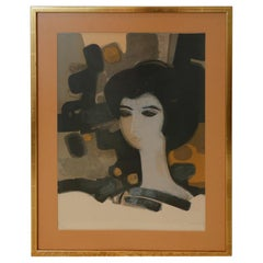 """""""Le Visage Gris"""" Limited Edition Lithograph Signed by Andre Minaux"""