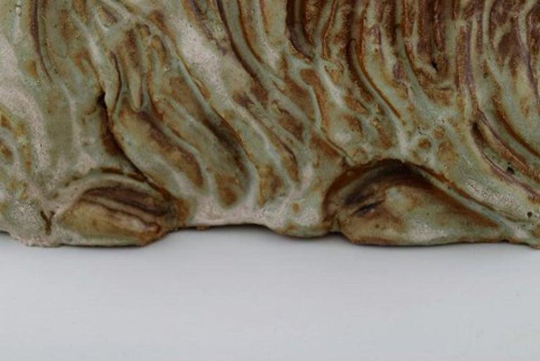 Lea Von Mickwitz '1884-1978', Arabia, Large Sculpture in Glazed Stoneware, Lama For Sale 1