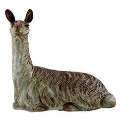 Lea Von Mickwitz '1884-1978', Arabia, Large Sculpture in Glazed Stoneware, Lama