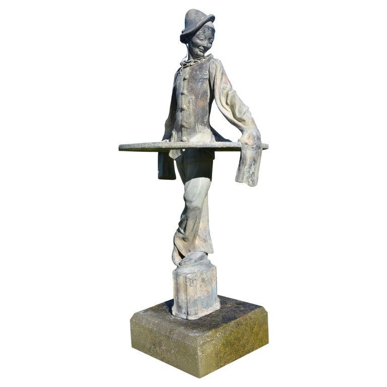 Lead Figure of Pierrot by Gertrude Knoblock, 1880-1964
