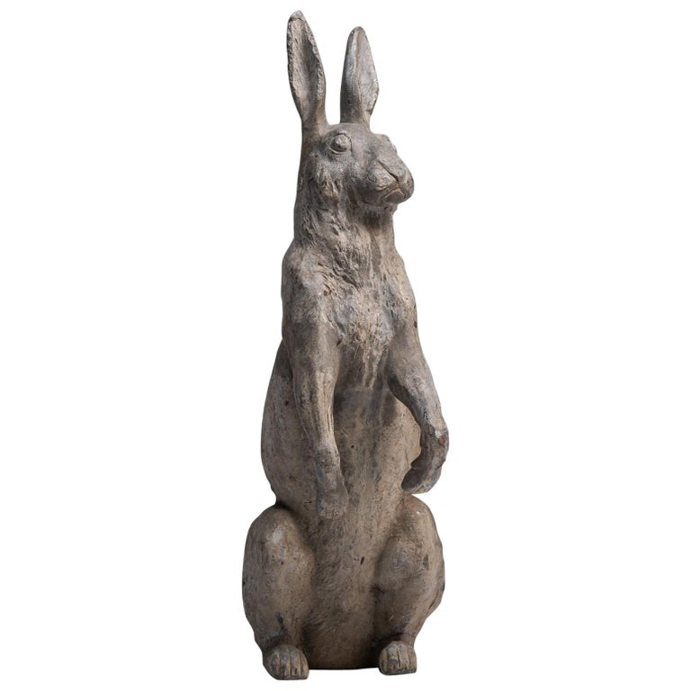 Lead Garden Rabbit, England, circa 1920 For Sale