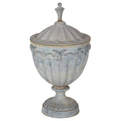 Lead Neoclassical Style Urn with Lid