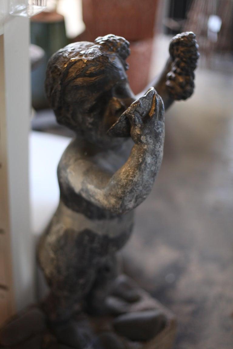 Lead Putto Sculpture For Sale 1