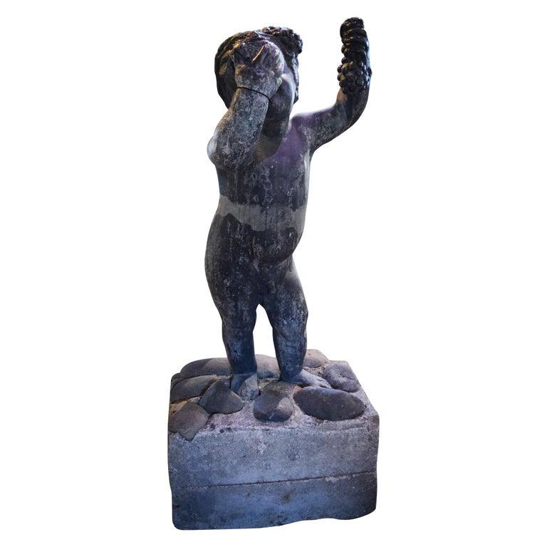 Lead Putto Sculpture For Sale