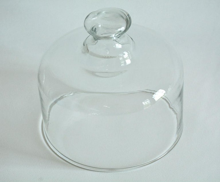 French Leaded Glass Cheese Dome For Sale