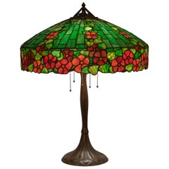 Leaded Glass Table Lamp by Handel, circa 1905