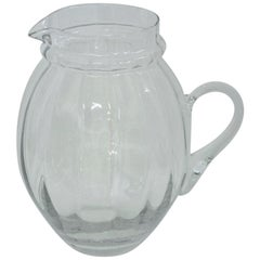 Leaded Glass Water Pitcher