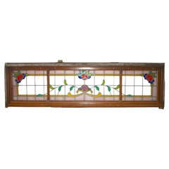 Leaded Stained Glass Window, circa 1880