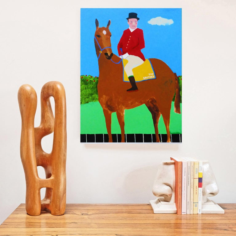 'Leader of the Pack' Portrait Painting by Alan Fears Pop Art Horse 4