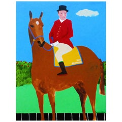 'Leader of the Pack' Portrait Painting by Alan Fears Pop Art Horse