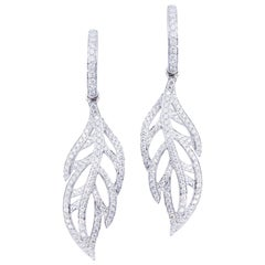 Leaf Diamond Earrings