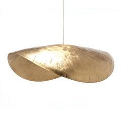 Leaf Gold Large or Medium Suspension in Matt Brass