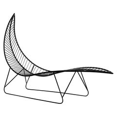 Leaf Hanging Swing Chair Modern Steel In/Outdoor 21st Century Base Legs White
