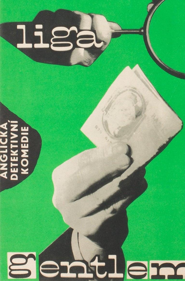 20th Century League of Gentlemen Original Czech Film Poster Milan Grygar, 1964 For Sale