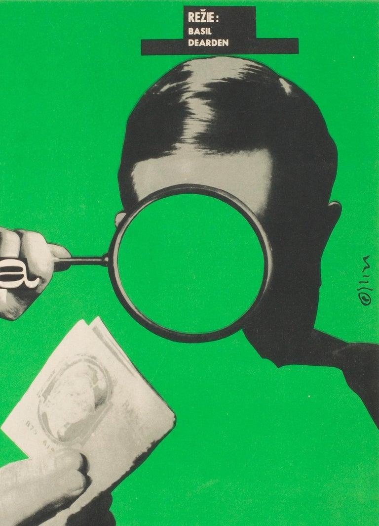 Paper League of Gentlemen Original Czech Film Poster Milan Grygar, 1964 For Sale